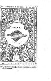 Decem librorum Moralium Aristotelis tres conuersiones: Prima Argyropili Byzantii, secunda Leonardi Aretini, tertia vero Antiqua per Capita et numeros conciliate: communi familiariq[ue] comme[n]tatio ad Argyropilum adiecto