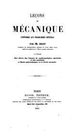 Leçons de mécanique conformes aux programmes officiels par Ch. Briot
