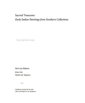 Sacred Treasures: Early Italian Paintings from Southern Collections