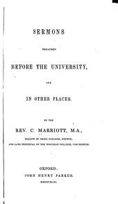 Sermons Preached Before the Univeristy: And in Other Places