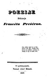 Poezije Dóktorja Francéta Prešérna