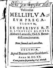 Fasciculus mellifluarum precationum