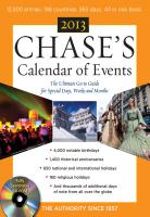 Chase s Calendar of Events 2013 with CD ROM PDF