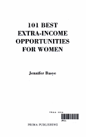 101 Best Extra Income Opportunities for Women PDF