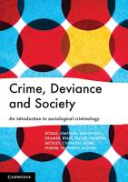Crime  Deviance and Society PDF