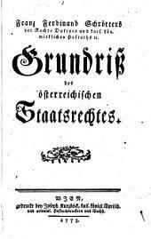 Grundriß des österreichischen Staatsrechtes
