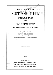 Year Book of the National Association of Cotton Manufacturers