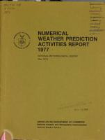 Numerical Weather Prediction Activities  National Meteorological Center PDF