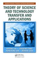 Theory of Science and Technology Transfer and Applications PDF