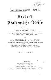 Goethe's Italiänische Reise: the German text