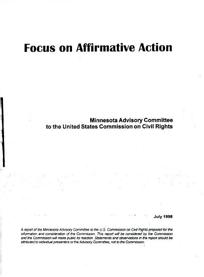 Focus on Affirmative Action PDF