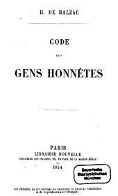 Code des gens honnêtes: Volume1