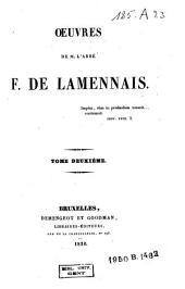 Oeuvres de M. l'abbé F. de Lamennais: Volume2