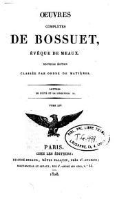 Oeuvres complètes de Bossuet: Volume54