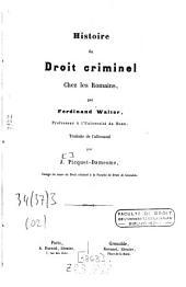 Histoire du droit criminel chez les romains