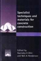 Specialist Techniques and Materials for Concrete Construction PDF