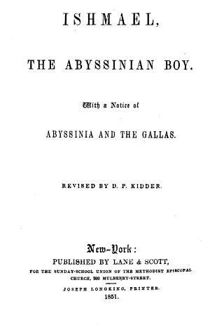 Ishmael  the Abyssinian Boy
