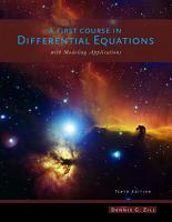 Student Resource with Solutions Manual for Zill s A First Course in Differential Equations with Modeling Applications  10th PDF