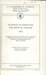 Patients in Hospitals for Mental Disease PDF