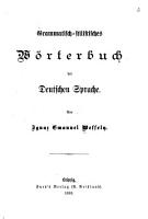 Grammatisch stilistisches W  rterbuch der deutschen Sprache     PDF