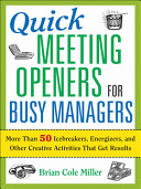 Quick Meeting Openers for Busy Managers PDF