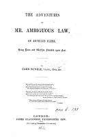 The adventures of mr  Ambiguous Law  by Carr Bunkle PDF