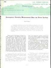 Atmospheric Humidity Measurement Near the Snow Surface