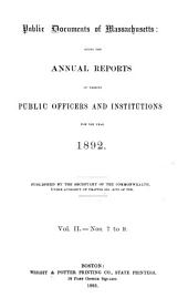 Public Documents of Massachusetts: Issue 7, Part 1 - Issue 8, Part 1