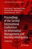 Proceedings of the Second International Conference on Information Management and Machine Intelligence PDF