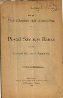 Postal Savings Banks for the U S  of America PDF