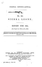 Sierra Leone: Report for ...