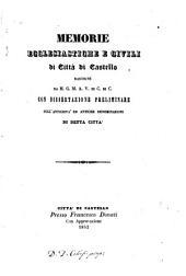 Memorie ecclesiastiche e civili di Città di Castello: Volumi 1-2