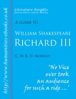 William Shakespeare   Richard III  PDF