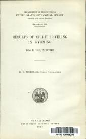 Results of spirit leveling in Wyoming, 1896 to 1912, inclusive: Issues 555-564