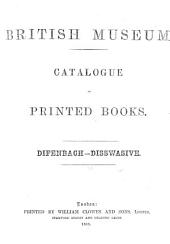 Catalogue of Printed Books: A-A.