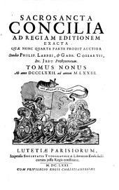 Sacrosancta concilia ad regiam editionem exacta: Volume 9