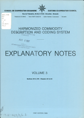 Harmonized commodity description and coding system PDF