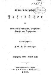 Württembergische Jahrbücher für Statistik und Landeskunde: Teil 1