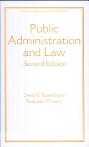 Public Administration and Law  Third Edition Book
