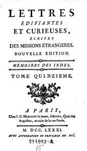 Mémoires Des Indes: Volume15