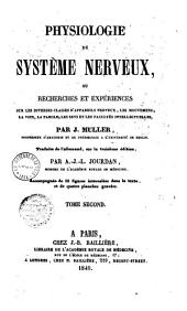 Physiologie du système nerveux, ...