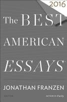 The Best American Essays 2016 PDF