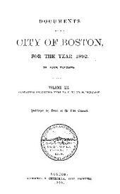 Documents of the City of Boston: Volume 3