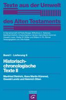 Historisch chronologische Texte II PDF