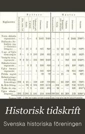 Historisk tidskrift: Volym 6