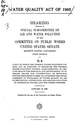 Water Quality Act of 1965 PDF