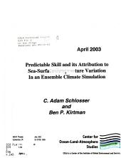 Predictable Skill and Its Attribution to Sea-surface Temperature Variation in an Ensemble Climate Simulation