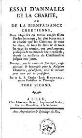 Essai d'annales de la charité ou De la bienfaisance chrétienne: Volume2