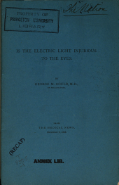 Is the electric light injurious to the eyes?