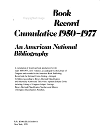 American Book Publishing Record Cumulative  1950 1977 PDF